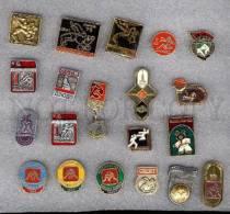 000154 WRESTLING Set 20 Russian Different Pins #154 - Wrestling