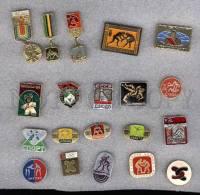 000155 WRESTLING Set 20 Russian Different Pins #155 - Wrestling