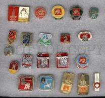 000158 WRESTLING Set 20 Russian Different Pins #158 - Wrestling