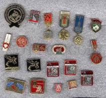 000163 WRESTLING Set 20 Russian Different Pins #163 - Wrestling