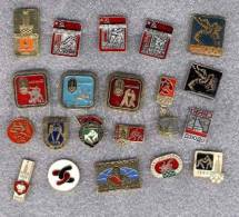 000164 WRESTLING Set 20 Russian Different Pins #164 - Wrestling