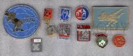 000171 WRESTLING Set 10 Russian Different Pins #171 - Wrestling