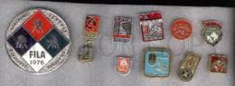 000173 WRESTLING Set 10 Russian Different Pins #173 - Wrestling