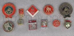 000176 WRESTLING Set 10 Russian Different Pins #176 - Wrestling