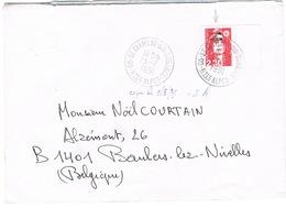 MARIANNE DE BRIAT SURCHARGE ST PIERRE ET MIQUELON UTILISE EN METROPOLE POUR LA BELGIQUE - Postmark Collection (Covers)