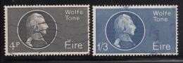 Ireland 1964 Used Scott #192-#193 Set Of 2 Theobald Wolfe Tone - 1949-... Repubblica D'Irlanda