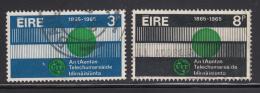 Ireland 1965 Used Scott #198-#199 Set Of 2 ITU Centenary - 1949-... République D'Irlande