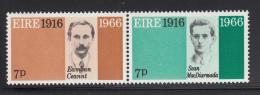 Ireland 1966 MNH Scott #211a Pair 7p Eamonn Ceannt, Sean MacDiarmada - 1949-... République D'Irlande