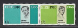 Ireland 1966 MNH Scott #213a Pair 1sh5p Thomas MacDonagh, Joseph Plunkett - 1949-... République D'Irlande