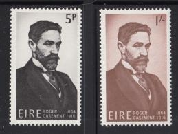 Ireland 1966 MNH Scott #214-#215 Set Of 2 Roger Casement - 1949-... République D'Irlande