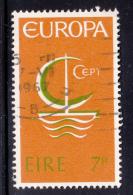 Ireland 1966 Used Scott #216 7p Symbolic Sailboat EUROPA - 1949-... République D'Irlande