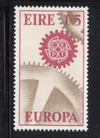 Ireland 1967 MNH Scott #233 1sh5p Cogwheels EUROPA - 1949-... République D'Irlande