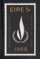 Ireland 1968 MNH Scott #266 5p International Human Rights Year - 1949-... République D'Irlande