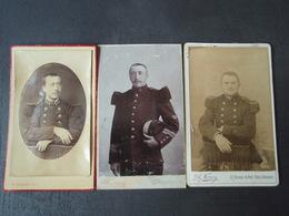 3 Photos De Militaire 104° ARGENTAN, Du 4° Pont-à-Mousson, Chasseur Du 2° GRANVILLE - Guerre, Militaire