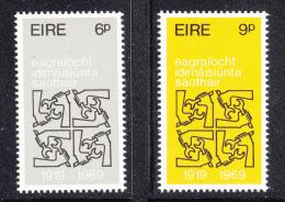 Ireland 1968 MNH Scott #272-#273 Set Of 2 ILO, 50th Anniversary - 1949-... République D'Irlande