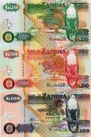 ZAMBIA-LOTTO 3 BANCONOTE-UNC - Zambia