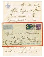 COURRIER AVEC CONTENU BRESIL POUR LA BELGIQUE TRANSIT LE BOURGET AIR FRANCE - 1921-1960: Periodo Moderno