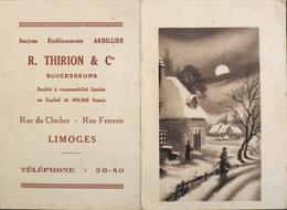 PETIT CALENDRIER De 1942 - Ets R. TUIRION & Cie à Limoges -TBE - Calendars