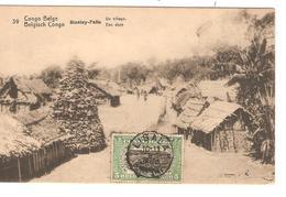 Belgisch Congo Belge Entier Vue 39 Stanley-Falls  CP 5c + TP Mols 5c C.Lisala 6/1/1919 Non Voyagée PR5236 - Entiers Postaux