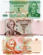 TRANSNISTRIA-LOTTO 3 BANCONOTE-UNC - Banconote