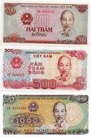 VIETNAM-LOTTO 3 BANCONOTE-UNC - Vietnam