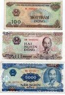 VIETNAM-LOTTO 3 BANCONOTE - Vietnam