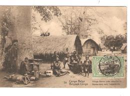 Belgisch Congo Belge Entier Vue 38 Village Bateke  CP 5c + TP Mols 5c C.Lisala 6/1/1919 Non Voyagée PR5237 - Entiers Postaux