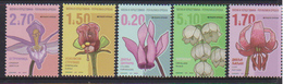 BOSNIA, SERB, 2017,MNH, FLORA,  FLOWERS, DEFINITIVES,  5v - Plants