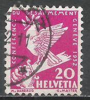 Switzerland 1932. Scott #212 (U) Dove On Broken Sword * - Oblitérés