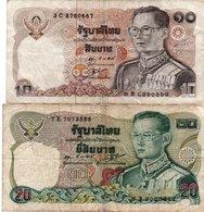 TAILANDIA-LOTTO 2 BANCONOTE - Tailandia