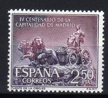 Spain Espana MNH 1961 4th CENTENARY OF MADRID AS CAPITAL TOWN Fountain Of The Cibeles - 1931-Oggi: 2. Rep. - ... Juan Carlos I