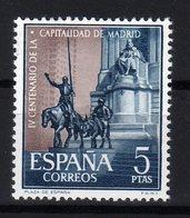 Spain Espana MNH 1961 4th CENTENARY OF MADRID AS CAPITAL TOWN Square Of Spain - 1931-Oggi: 2. Rep. - ... Juan Carlos I