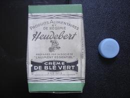 Boite Ancienne Carton CREME BLE VERT Regime HEUDEBERT Produits Alimentaires - Boîtes