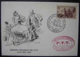 1945 Carte Maximum Semaine Nationale Des PTT Comité National D'assistance Aux PTT Victimes De Guerre (N°737) - 1940-49