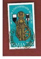 ITALIA REPUBBLICA  - SASS. 1952     -      1991  UNIVERSITA' DI SIENA   -      USATO - 6. 1946-.. Repubblica
