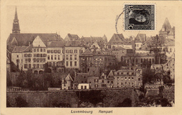 Carte Postale Ancienne,LUXEMBOURG En 1919,1er Guerre,Rempart,ville Forteresse,timbre - Luxembourg - Ville