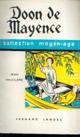« Doon De Mayence » MAUCLERE, J. Ed. F. Lanore, Paris (1963) - Livres, BD, Revues