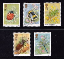 Great Britain 1985 Insects Set Of 5 Used - 1952-.... (Elizabeth II)