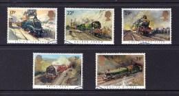 Great Britain 1985 Famous Trains Set Of 5 Used - 1952-.... (Elizabeth II)