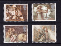 Great Britain 1985 King Arthur - Arthurian Legend Set Of 4 Used - 1952-.... (Elizabeth II)