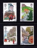 Great Britain 1985 Royal Mail - 350 Years Set Of 4 Used - 1952-.... (Elizabeth II)