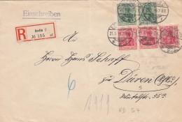 Deutsches Reich  R Brief 1916 Viererblock - Germany
