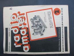 ZEITSCHRIFT Radio Rundfunk Radioamater Gramofon Gramophone Film 1934 RRR! /// D*31879 - Slav Languages