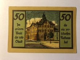 Allemagne Notgeld Suhl 50 Pfennig - 1918-1933: Weimarer Republik