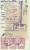 SYRIA 1994 THREE REVENUE STAMPS USED ON PAKISTAN PASSPORT PAGE - Historische Dokumente