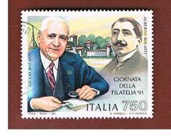 ITALIA REPUBBLICA  - SASS. 1980     -      1991  GIORNATA FILATELIA   -      USATO - 6. 1946-.. Republik