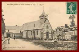 """76 Anglesqueville-sur- Saane * L""""eglise    ( Scan Recto Et Verso ) - France"""