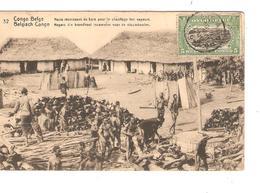 Belgisch Congo Belge Entier Vue 32 Bois De Chauffage CP 5c + TP Mols 5c C.Lisala 6/1/1919 Non Voyagée PR5240 - Entiers Postaux