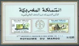 MAROC - 1990 - MNH/** - 20ieme ANNIVERSAIRE MUSEE PTT - Yv BLOC 19 - Lot 16856 - Maroc (1956-...)