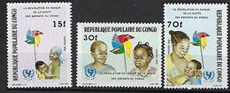 """Congo YT 784 à 786 """" UNICEF """" 1986 Neuf** - Congo - Brazzaville"""
